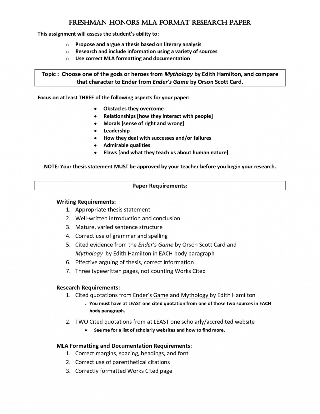 012 Research Paper Mla Format Section Headings Breathtaking Heading Spacing Large