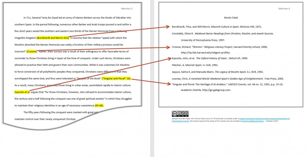 012 Research Paper Mla Works Cited Image How To Cite Book In Rare A Format Large