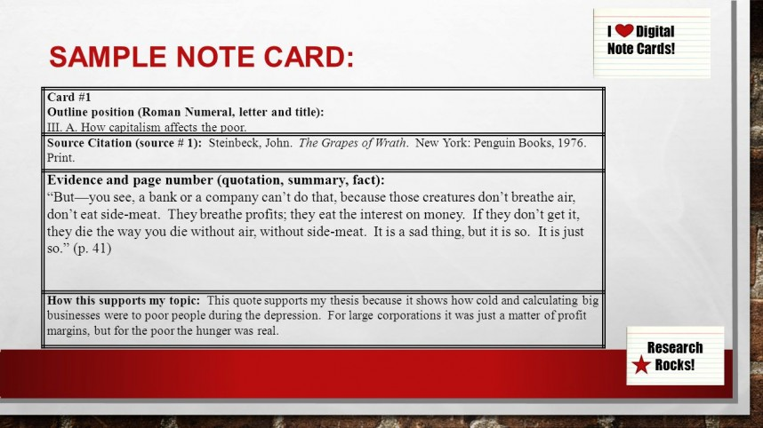 012 Research Paper Note Cards For Papers Slide 9 Excellent Notecards Mla Card Format Samples