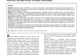 012 Research Paper On Bipolar Disorder Archaicawful Pdf About Articles