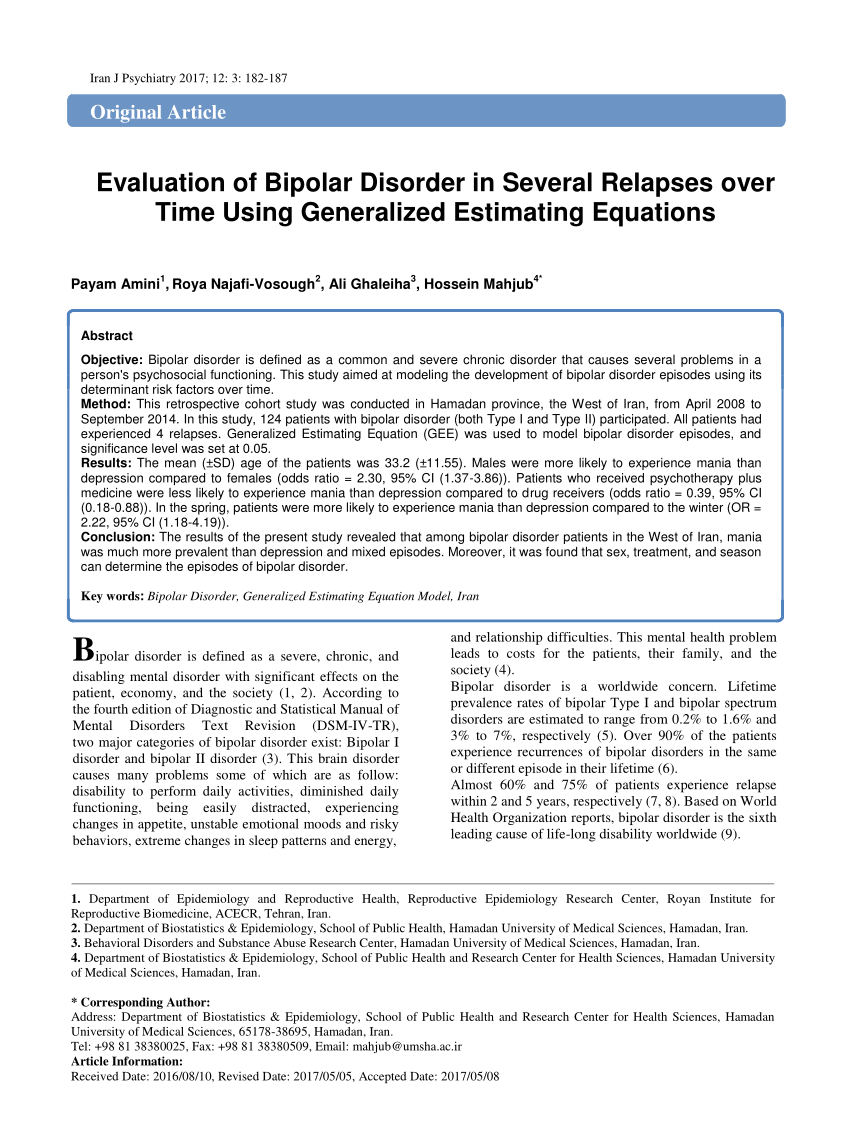 012 Research Paper On Bipolar Disorder Archaicawful Pdf About Articles Full