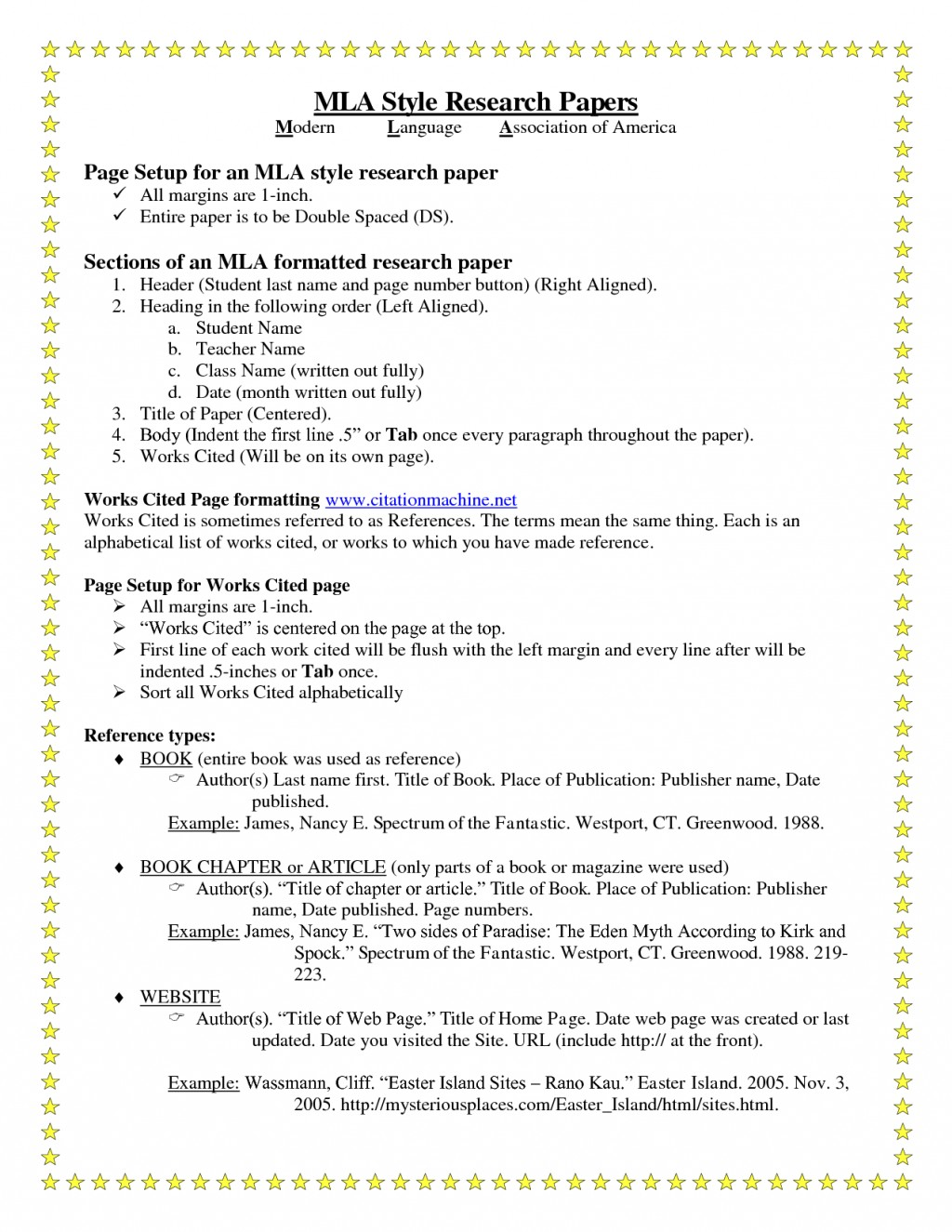 012 Research Paper Order Of Headings In Parts Mla Breathtaking A Format Which The Following Is Not Double-spaced Large