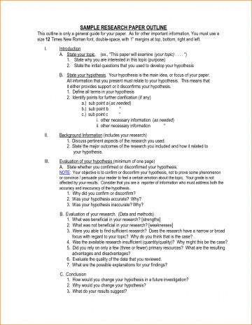 012 Research Paper Outline Template For Outlines Top A Mla On Social Media 360