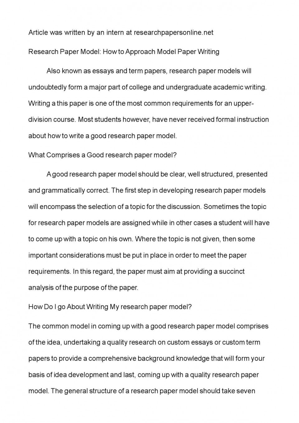 012 Research Paper P1 Correct Order Of Wonderful A Sequence Steps For Writing 960