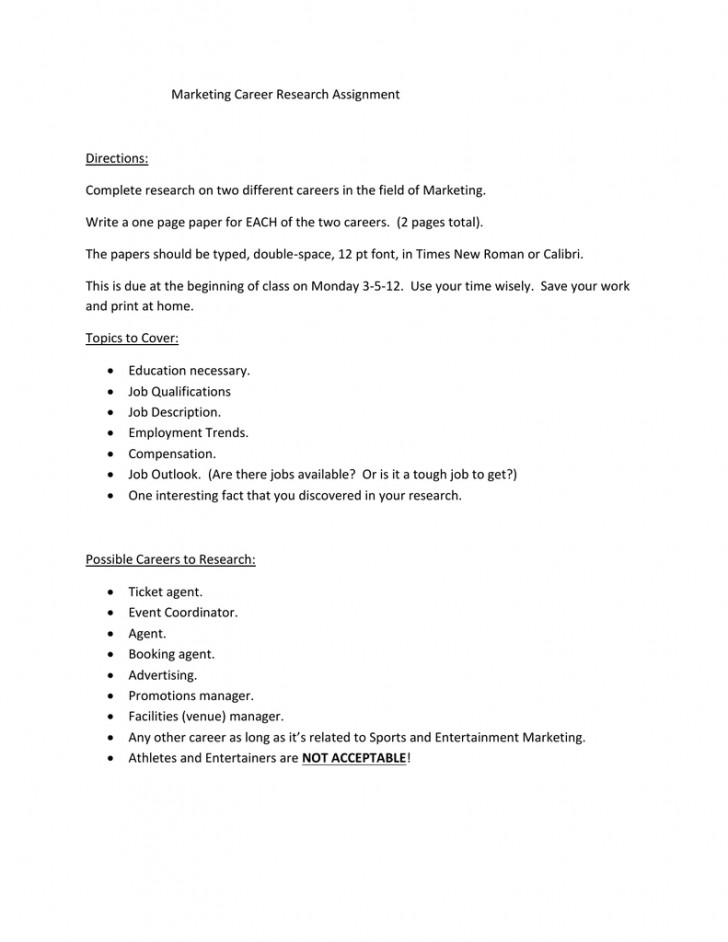 012 Research Paper Papers On Careers 006189065 1 Remarkable Examples Of 728