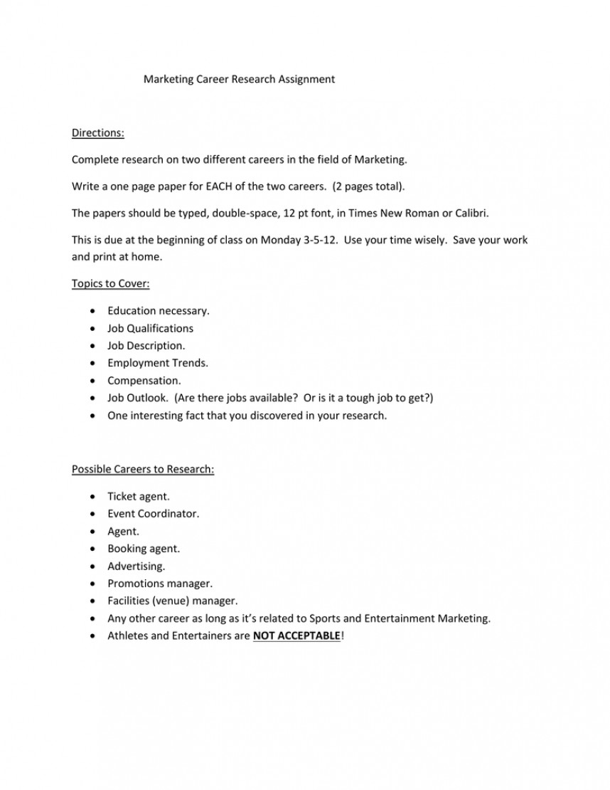 012 Research Paper Papers On Careers 006189065 1 Remarkable Examples Of 868
