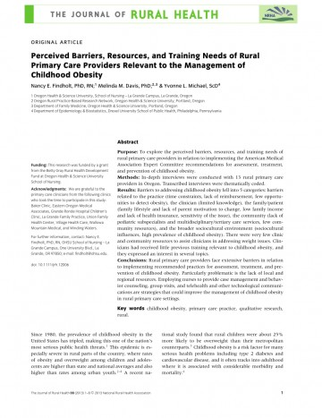 012 Research Paper Primary Article On Childhood Obesity Imposing 360