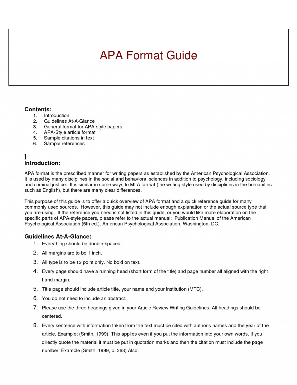 012 Research Paper Short Apa Format Resume Example Of Guide For Writing Style Excellent A Papers Large