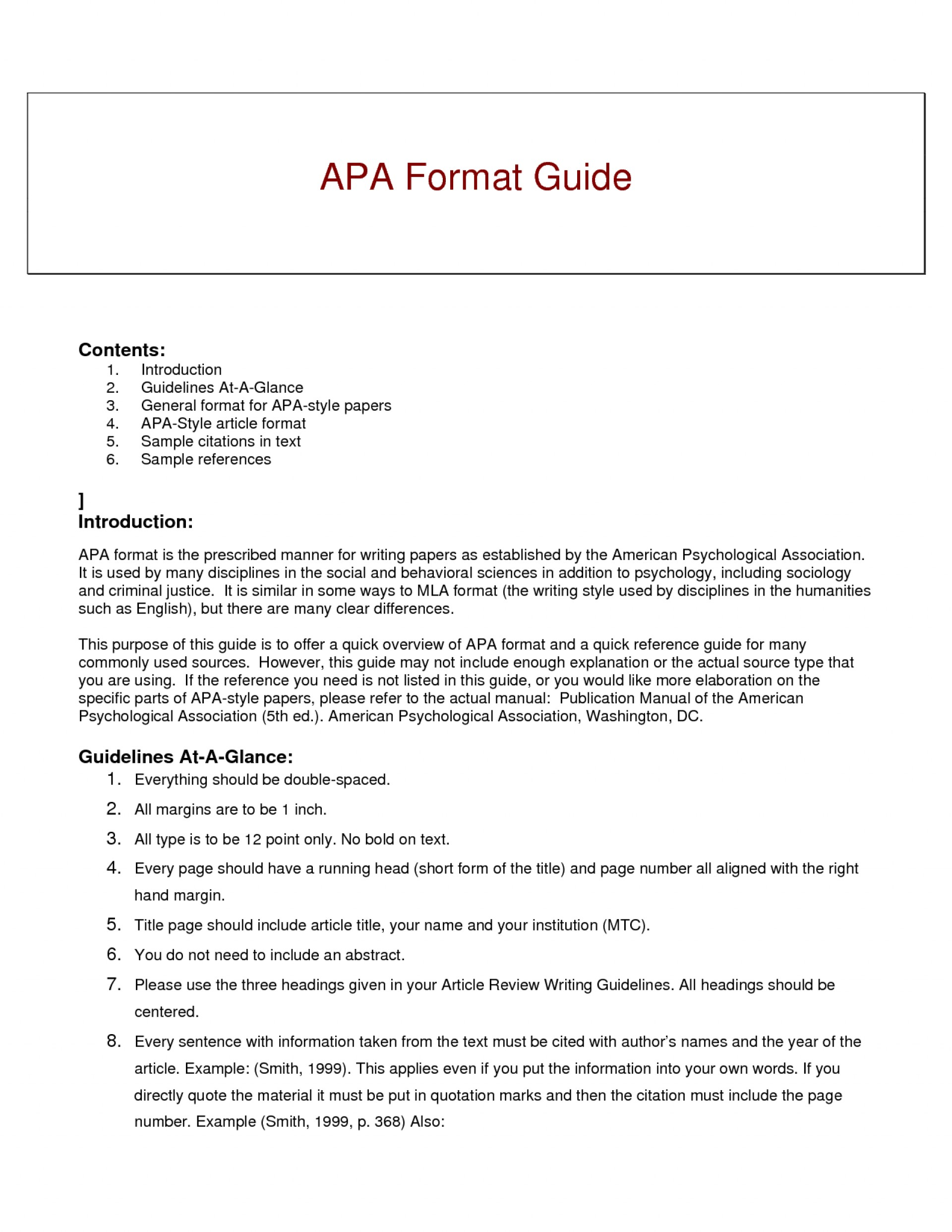 012 Research Paper Short Apa Format Resume Example Of Guide For Writing Style Excellent A Papers 1920