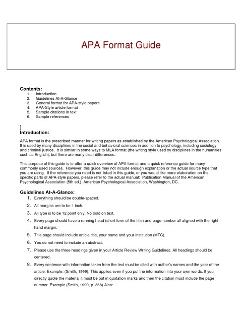 012 Research Paper Short Apa Format Resume Example Of Guide For ...