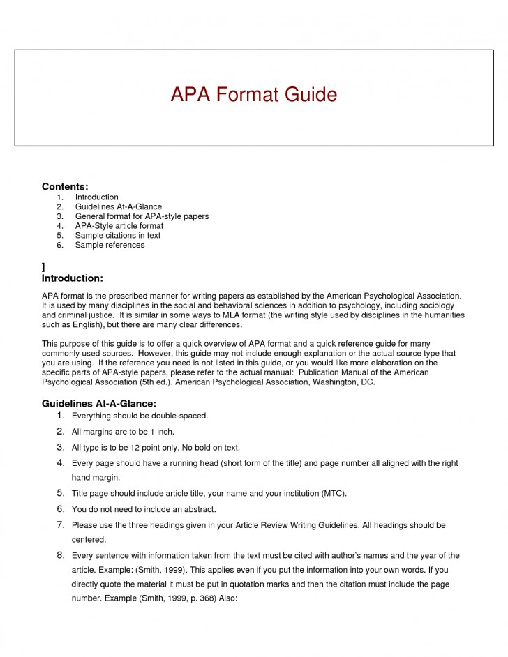 012 Research Paper Short Apa Format Resume Example Of Guide For Writing Style Excellent A Papers 728