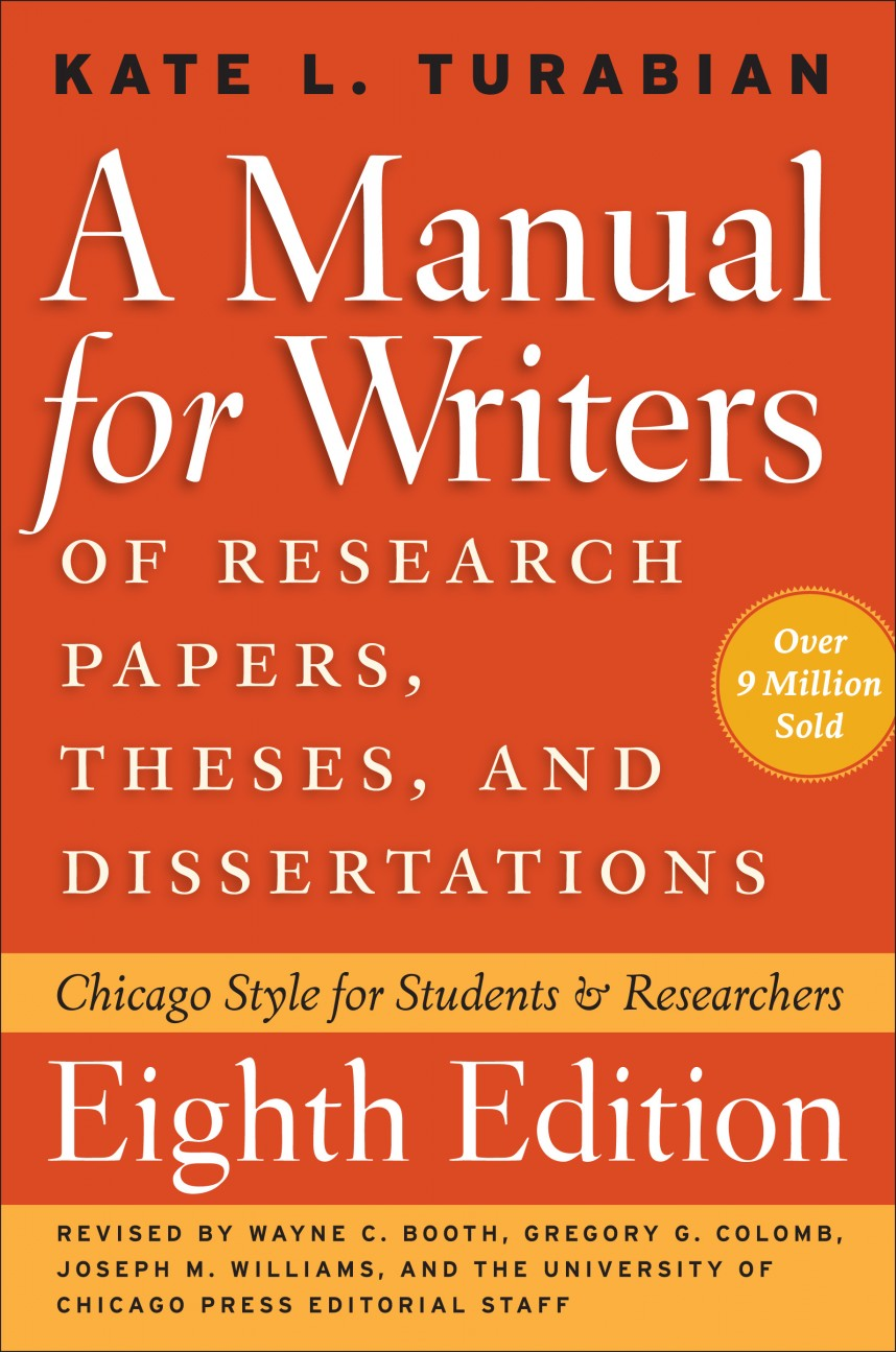 012 Turabian Guide Cover Manual For Writers Of Researchs Theses And Dissertations 9th Edition Pdf Wonderful A Research Papers