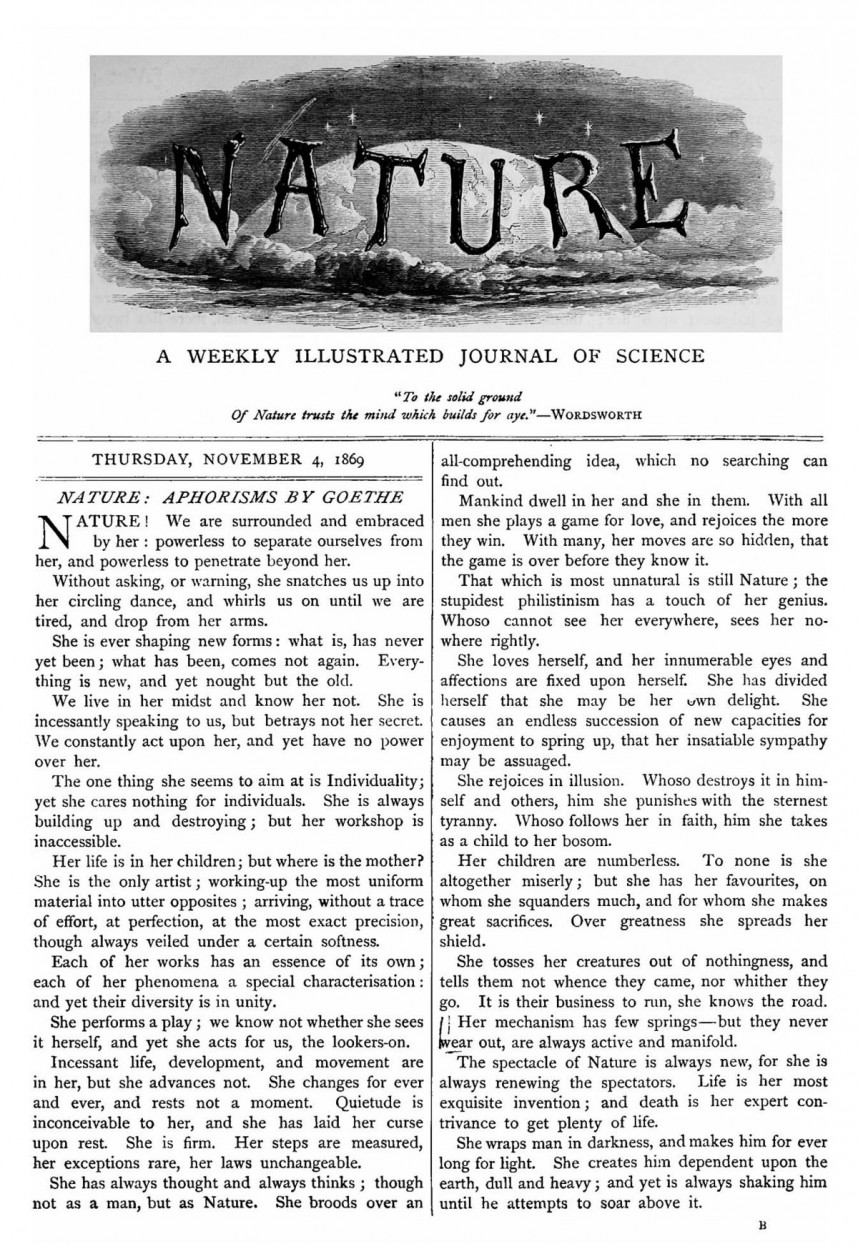 013 1200px Nature Cover2c November 42c 1869 Parts Of Research Paper And Its Definition Staggering A Pdf 868