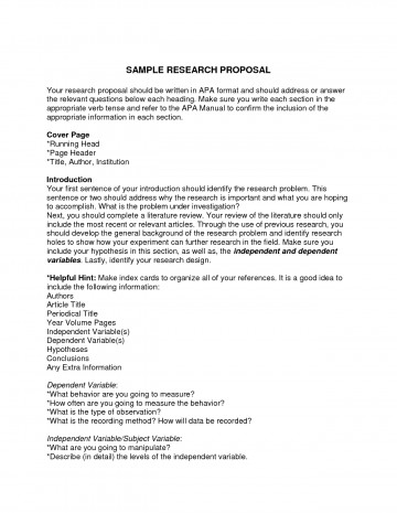 Help writing a psychology research paper