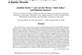 013 Apa Research Paper On Bipolar Disorder Rare Introduction