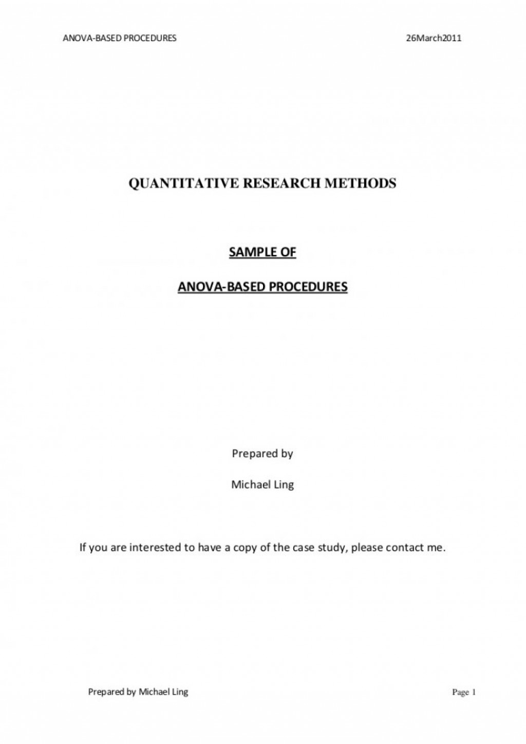 013 Asa Format Research Paper Example Style Title Page Singular Large