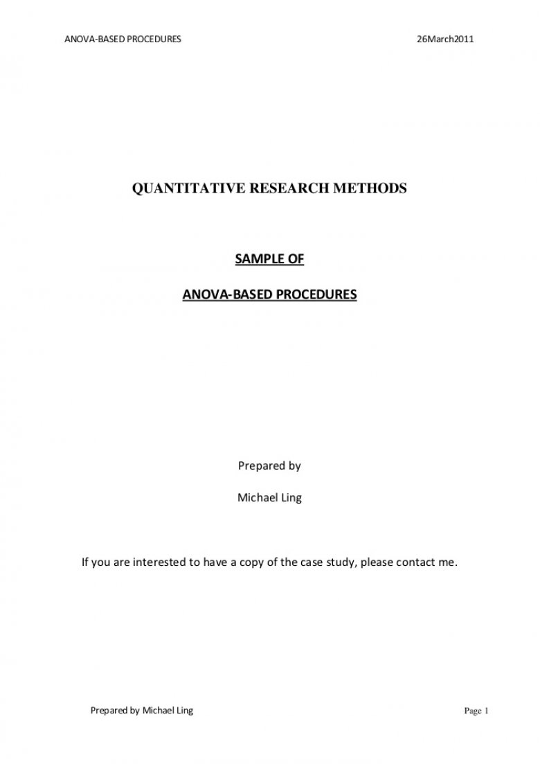 013 Asa Format Research Paper Example Style Title Page Singular Full