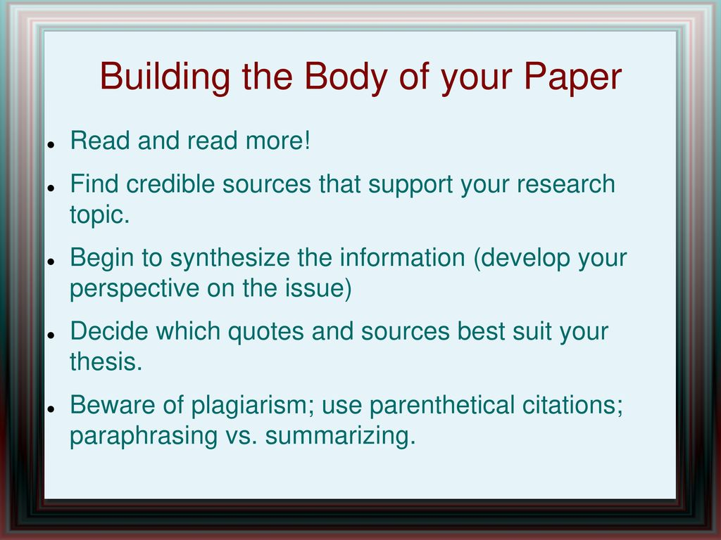 013 Credible Sources For Research Papers Paper Awful High School List Of Full