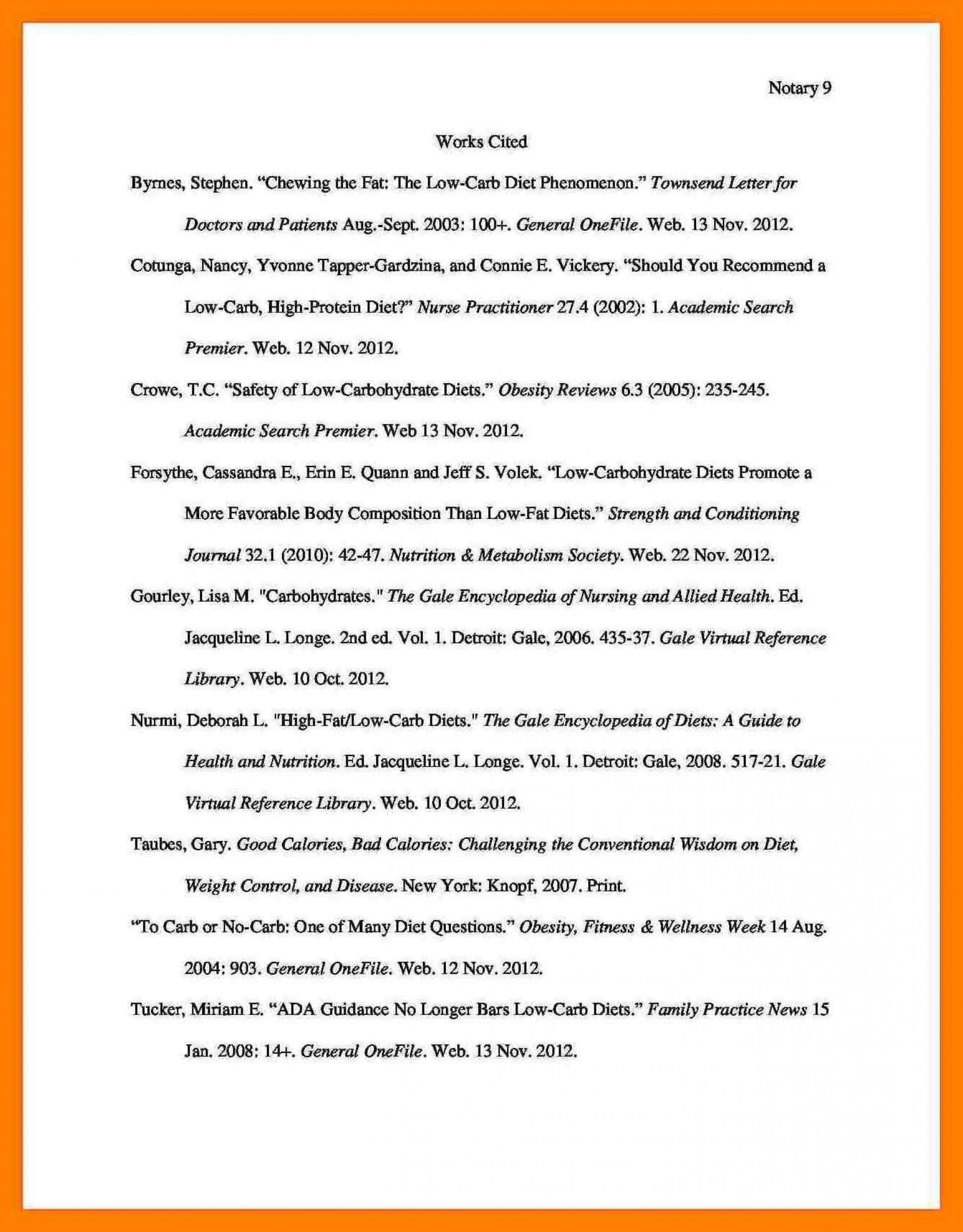 013 Do Works Cited Page Research Paper Mla Format For Sample What Is Bibliography Unique Examples 1920