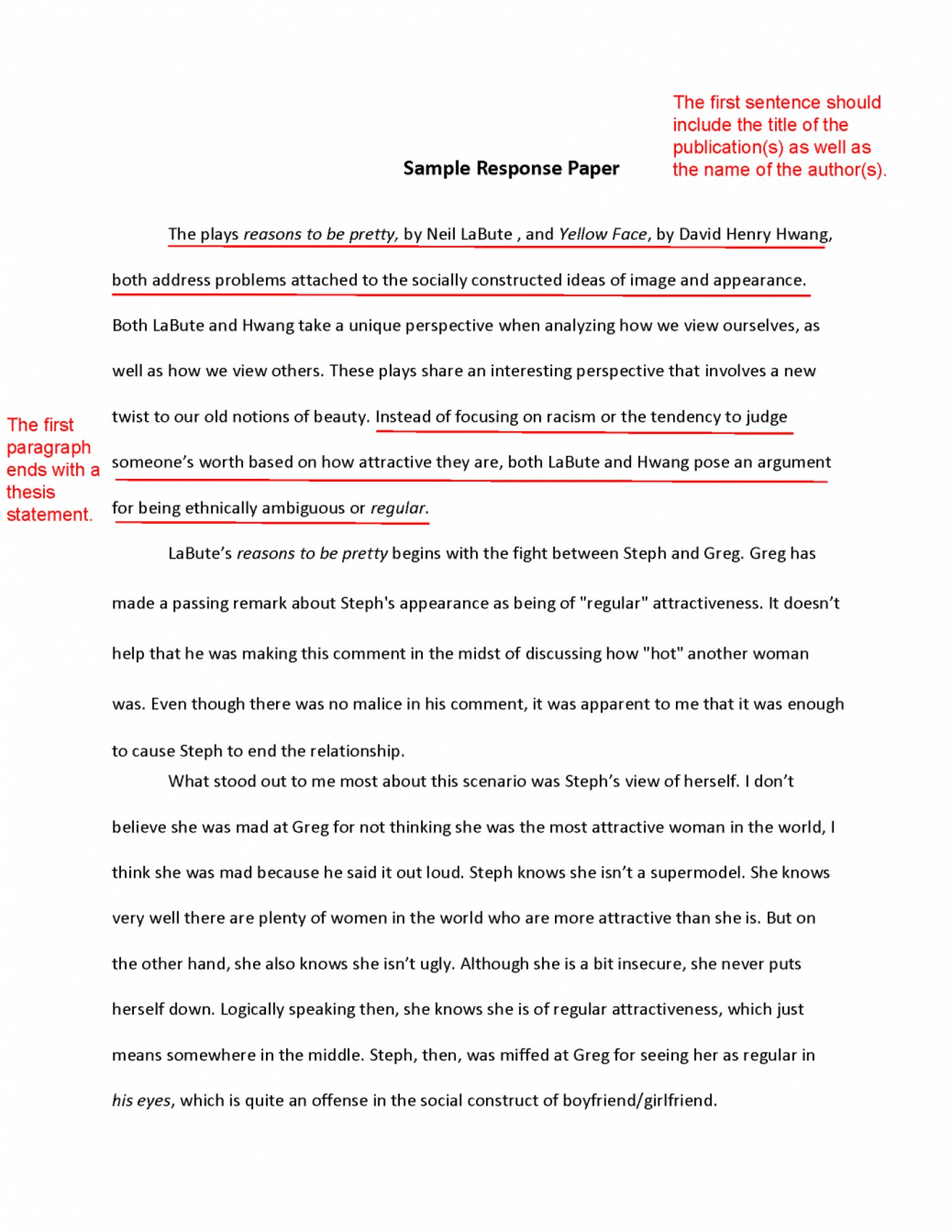Essay With Thesis Statement Example  Topic For English Essay also Proposal Essay Outline  English Research Paper Example Essay Template Responce  Essay Writing Business
