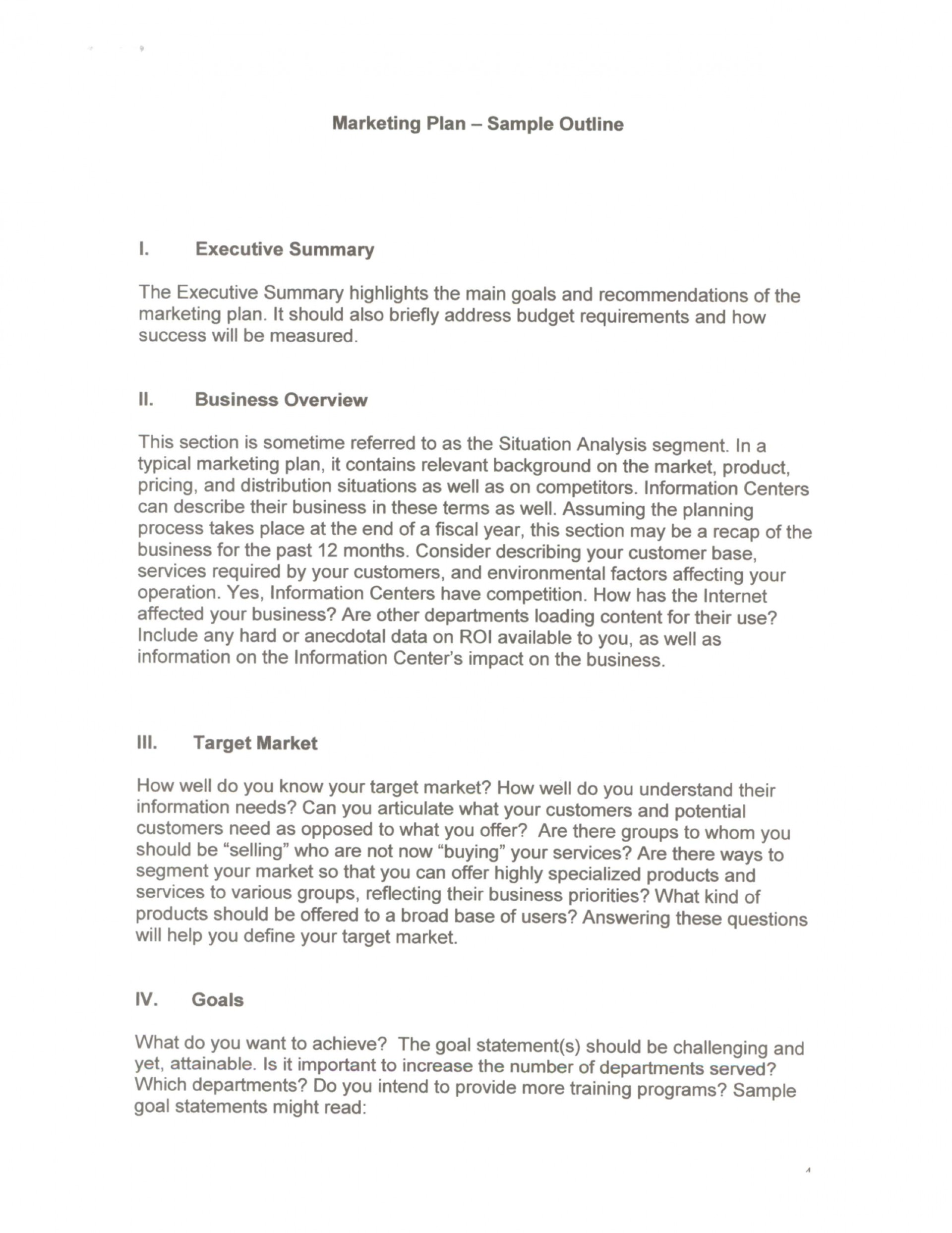 013 Executive Summary Research Paper Example Marketing Plan 384040 Unforgettable 1920