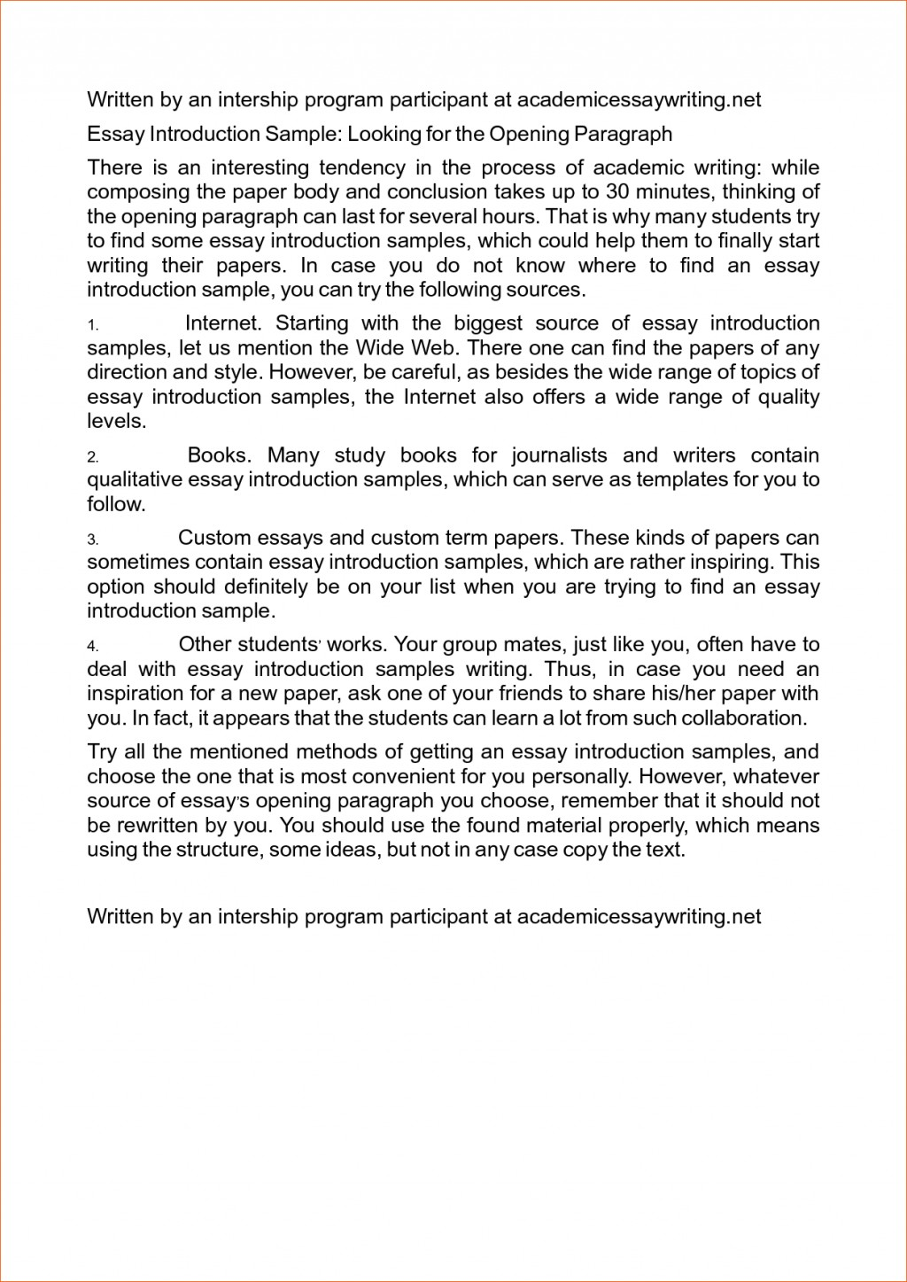 013 Good Introduction Sentences For Research Paper Writing An Essay Examples Paragraph Example Of Template Memo Rare A How To Write Conclusion Introductory Large