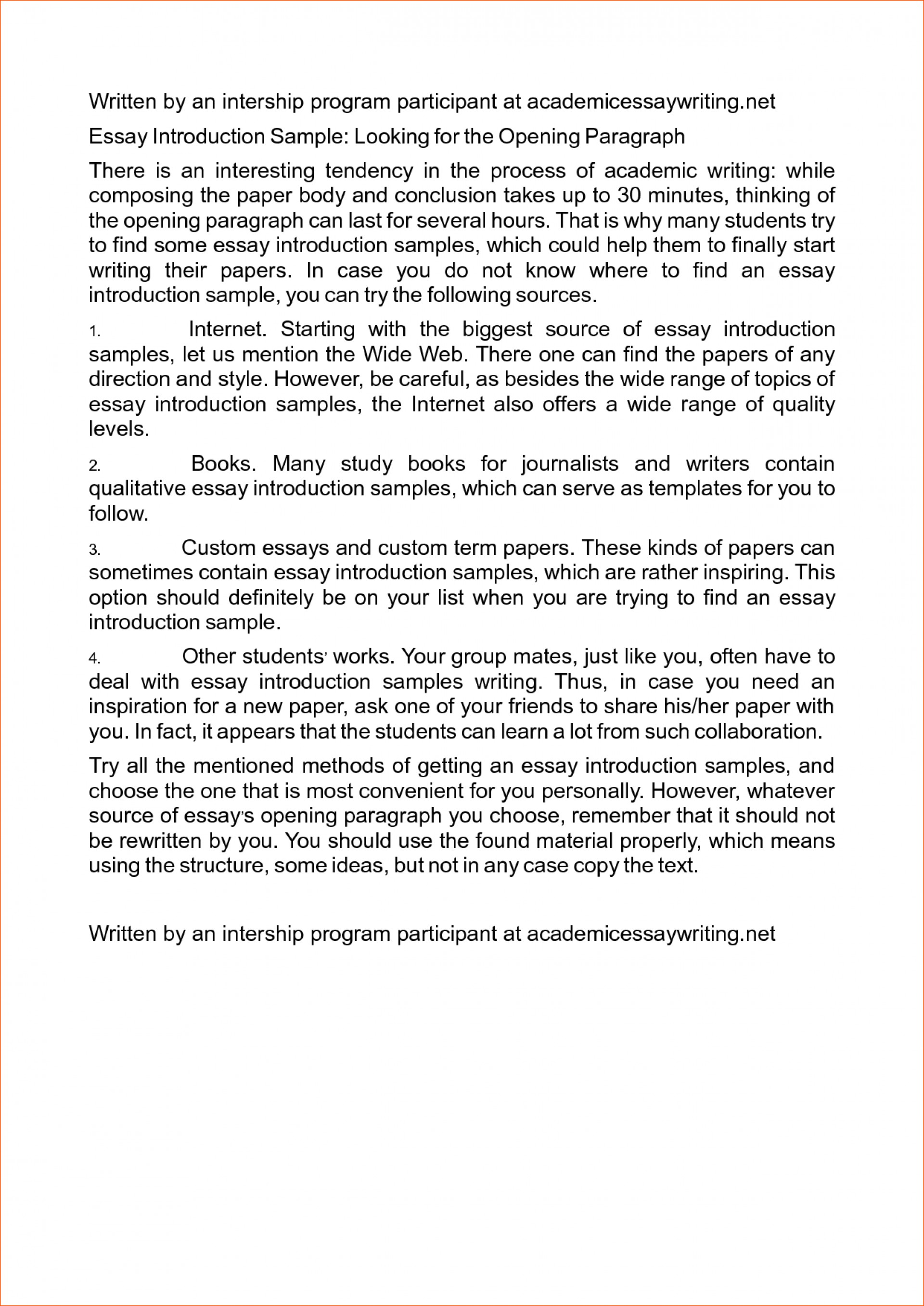 013 Good Introduction Sentences For Research Paper Writing An Essay Examples Paragraph Example Of Template Memo Rare A How To Write Conclusion Introductory 1920