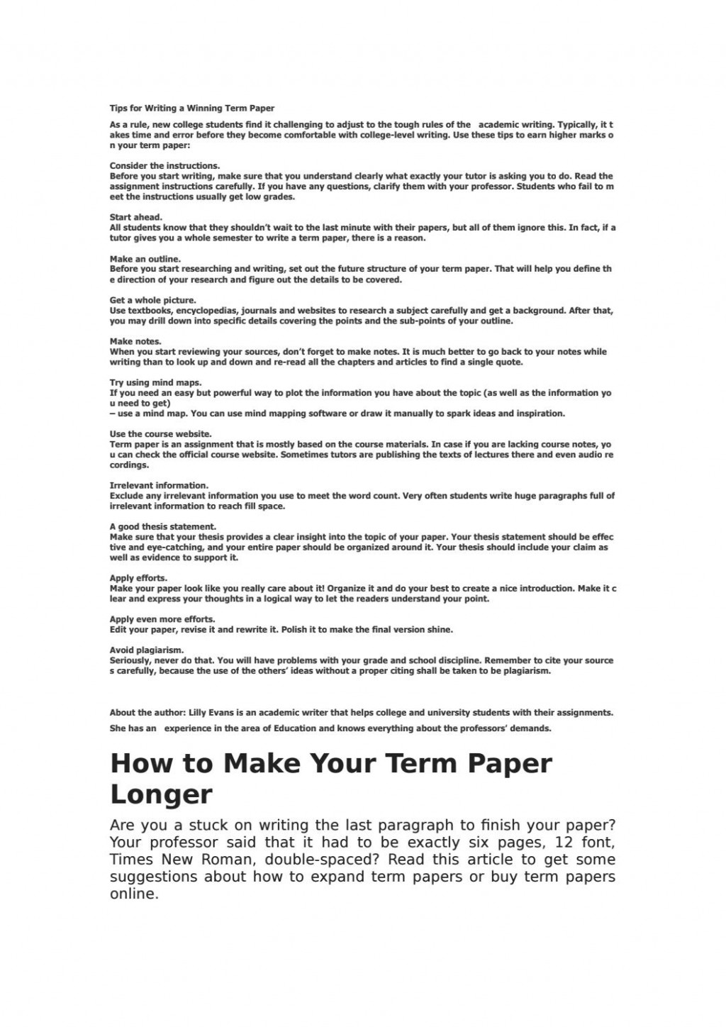 013 How To Make An Outline For Term Paper Research Page 1 Amazing A Create Large