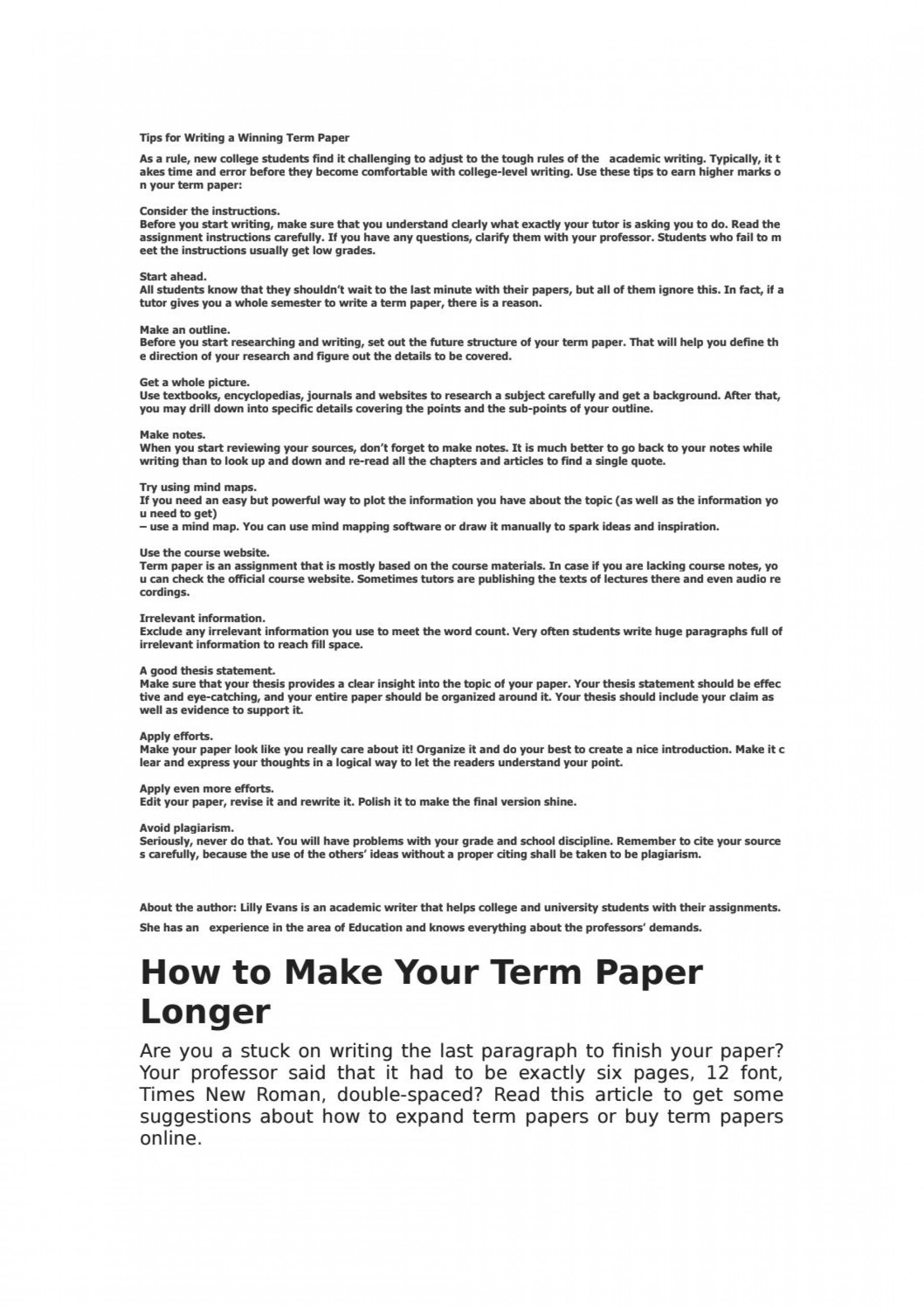 013 How To Make An Outline For Term Paper Research Page 1 Amazing A Create 1920