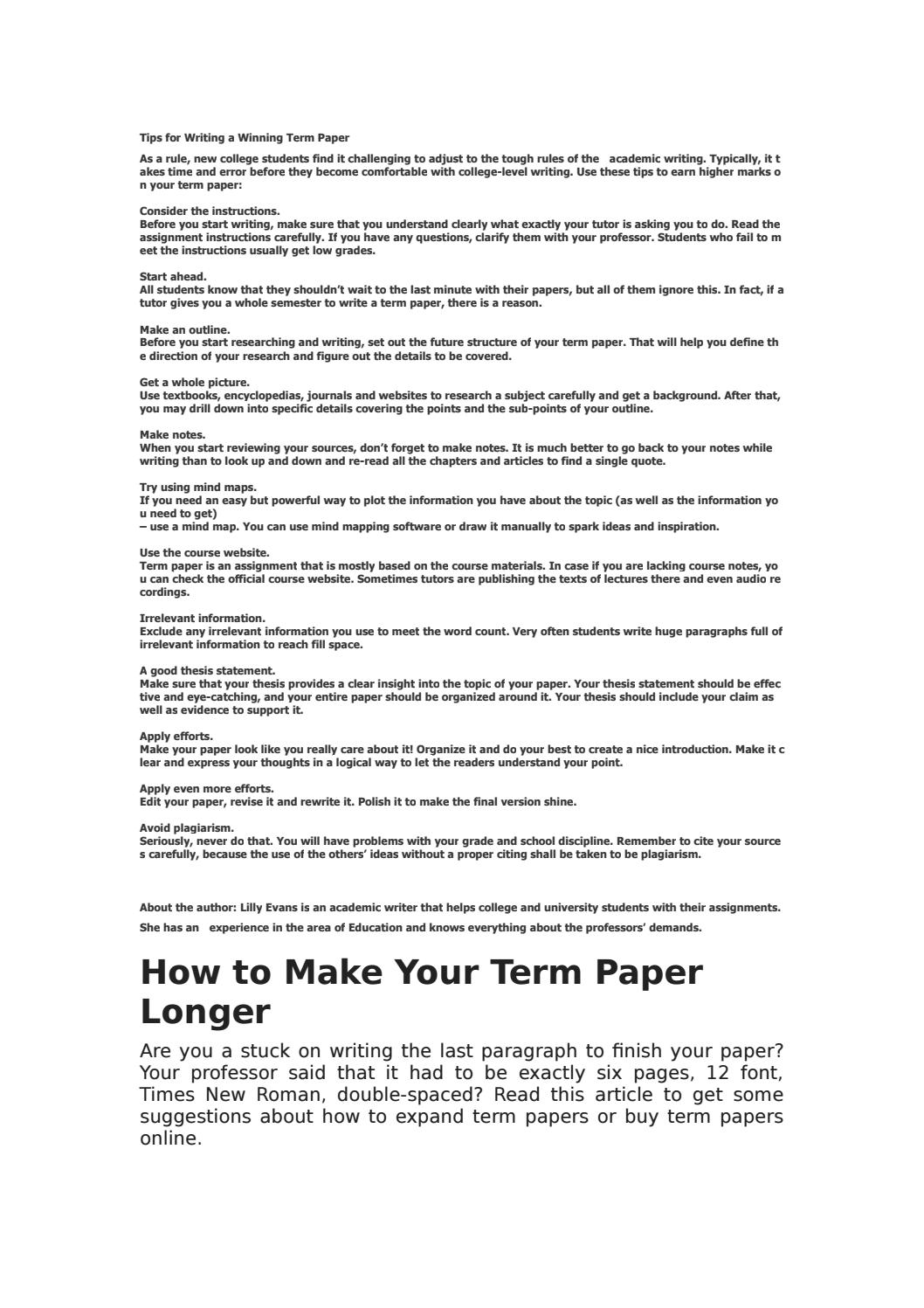 013 How To Make An Outline For Term Paper Research Page 1 Amazing A Create Full