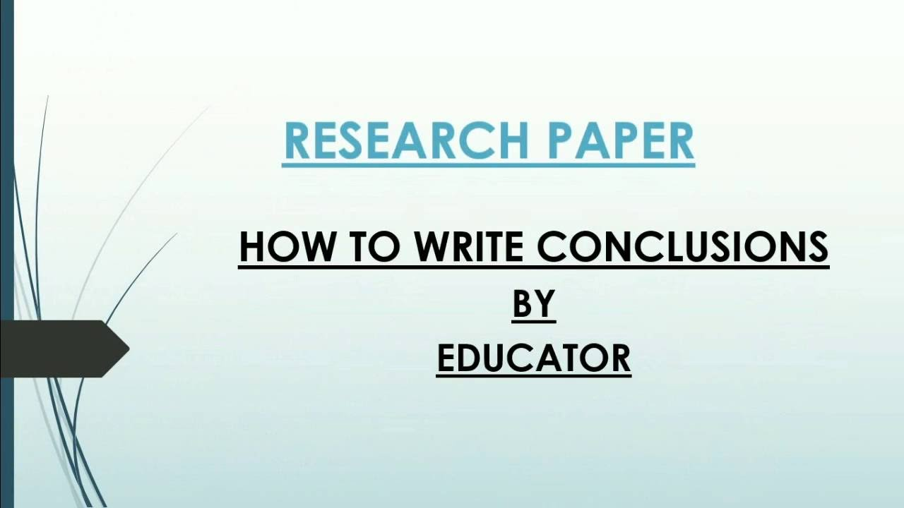 013 How To Write Conclusion For Research Paper Fearsome A Example Apa Full