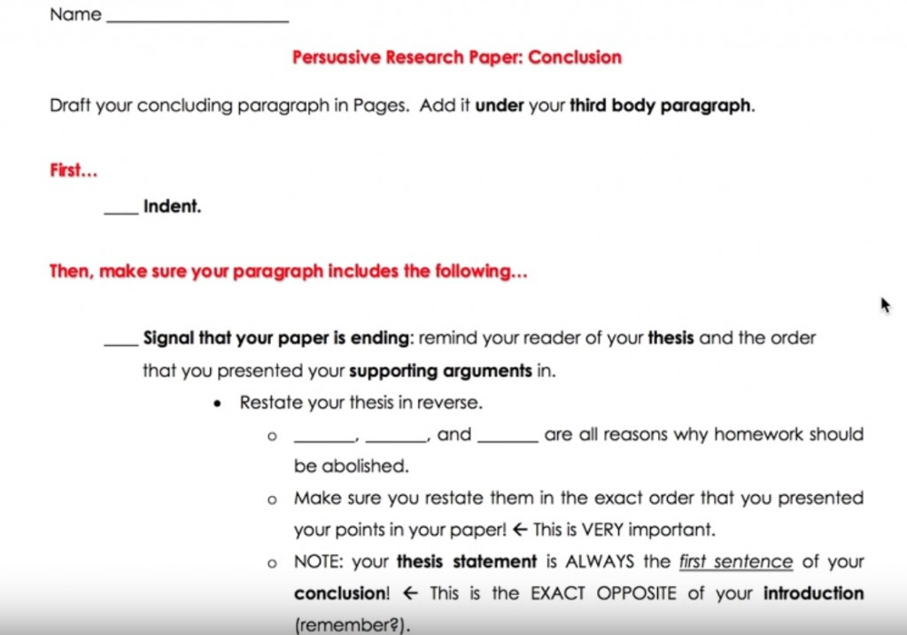 013 How To Write Conclusion Paragraph Research Paper Best A Great Large