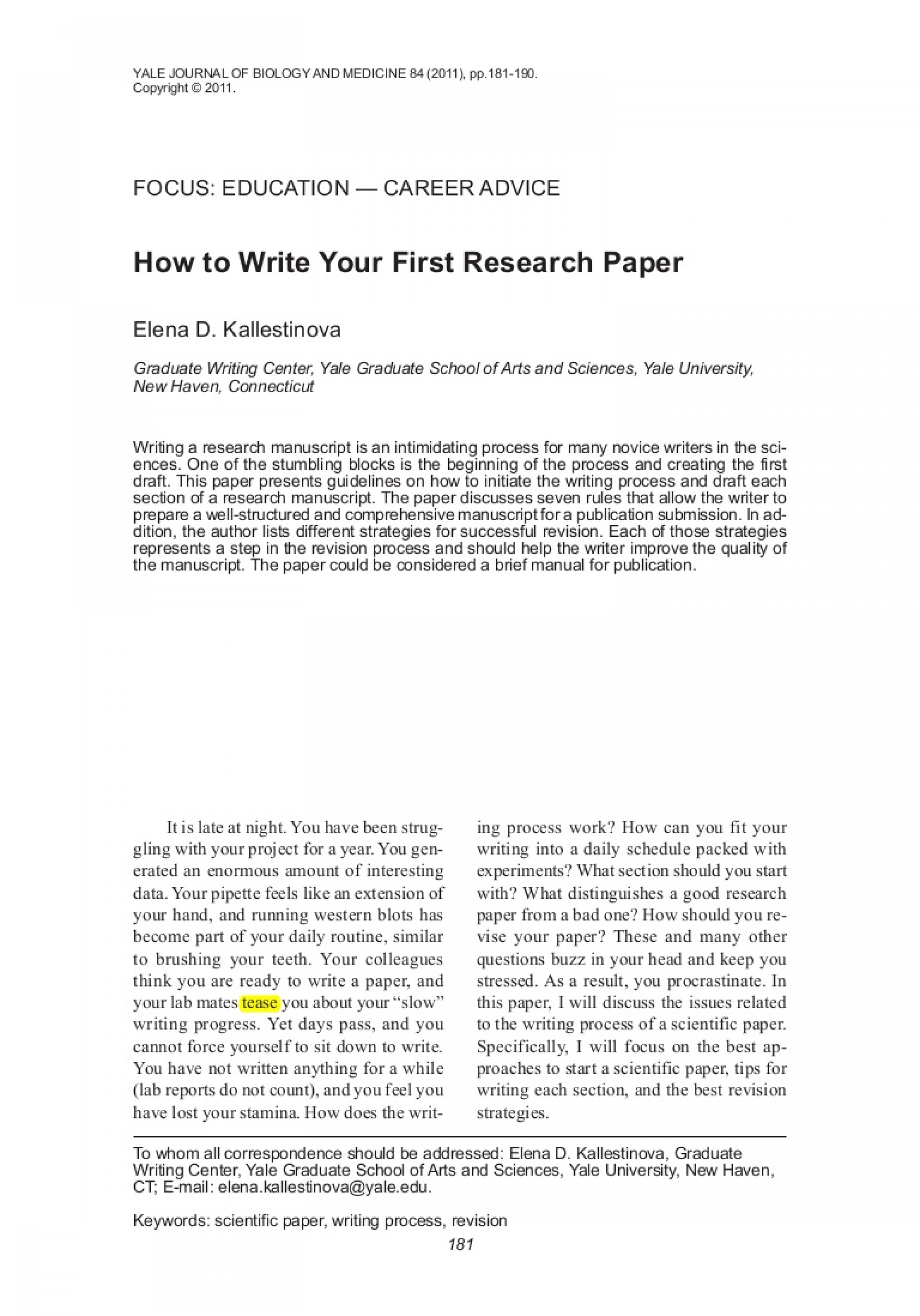 013 How To Write Research Papers Paper Howtowriteyourfirstresearchpaper Lva1 App6891 Thumbnail Best A - Pdf (2015) Conclusion An Introduction And 1920
