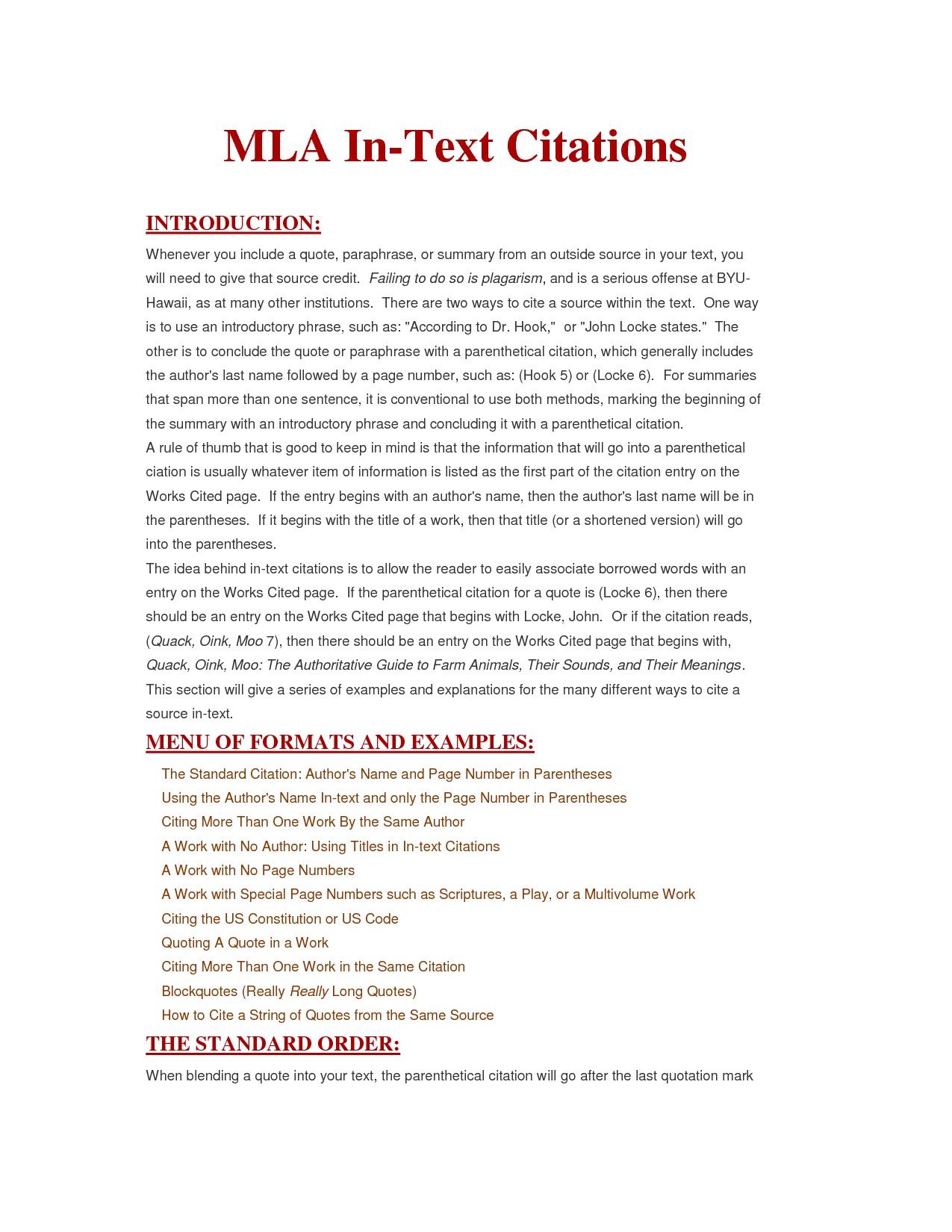 013 In Text Citation Sample Paper Research Museumlegs