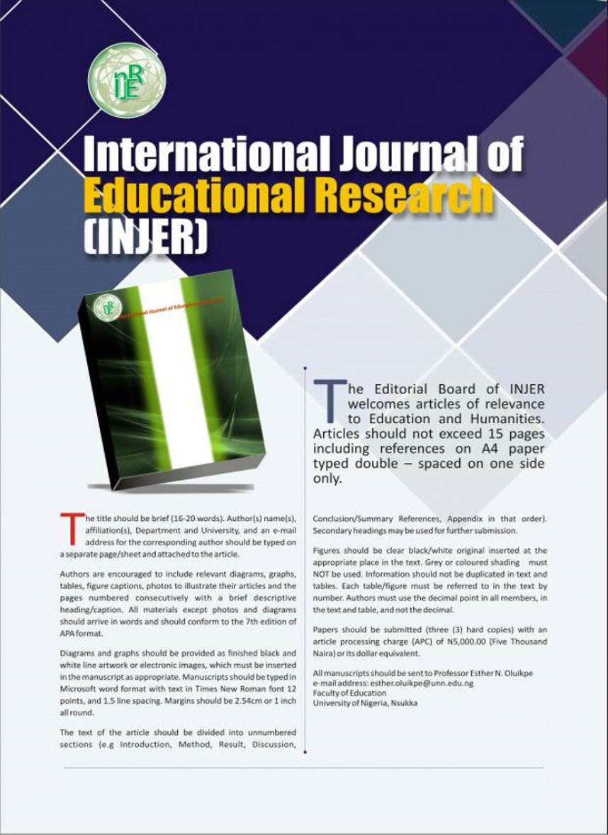 013 Injer Flyer X Educational Researchs Stupendous Research Papers Psychology Pdf