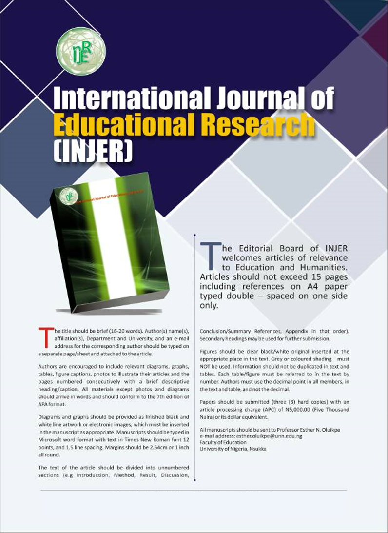013 Injer Flyer X Educational Researchs Stupendous Research Papers Psychology Pdf Full