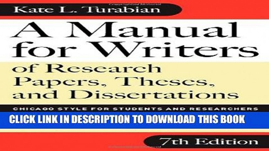 013 Manual For Writers Of Research Papers Theses And Dissertations Chicago Style Students Paper X1080 Rare A