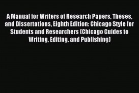013 Manual For Writers Of Researchs Theses And Dissertations 8th Edition X1080 Xeo Staggering A Research Papers Pdf