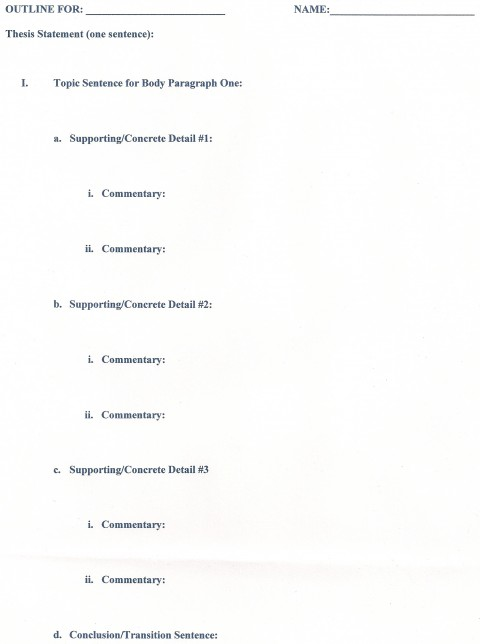 013 Outline Career Research Paper Unusual Template 480