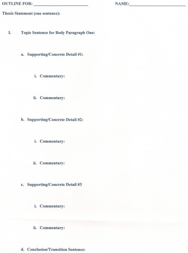 013 Outline Career Research Paper Unusual Template 728