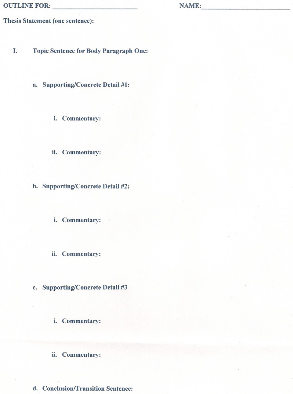013 Outline Career Research Paper Unusual Template 960