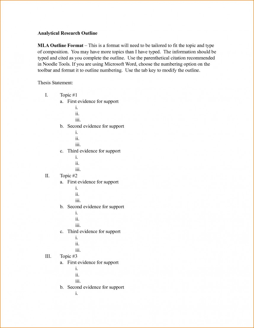 013 Outline Research Paper Mla Format Speech Presentation Masters Unforgettable Generator Template
