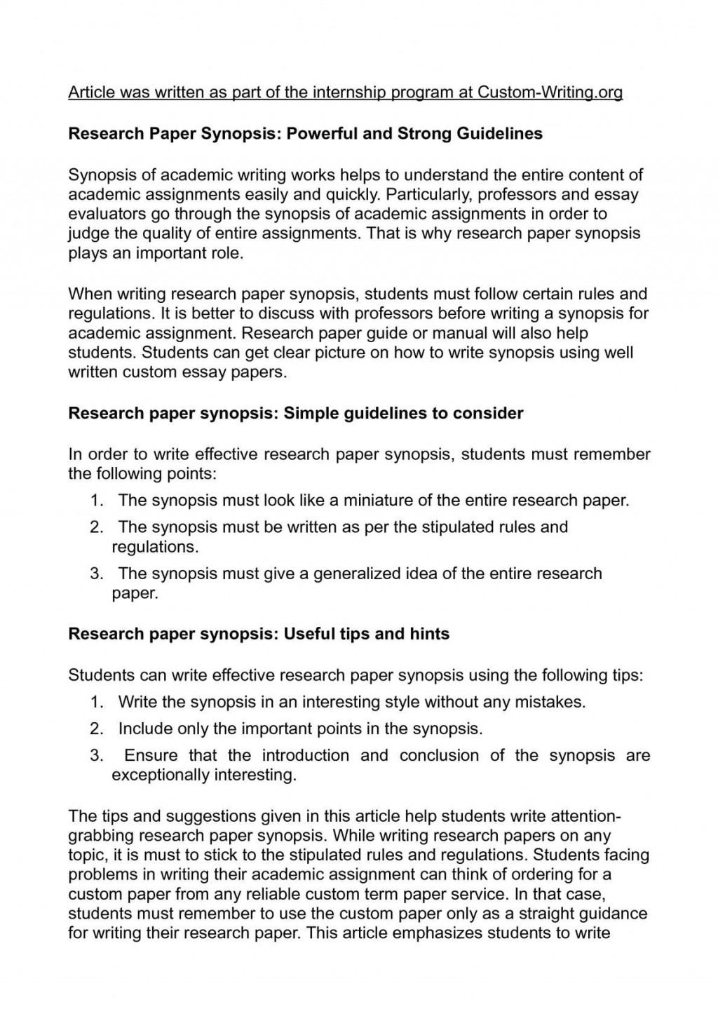 013 P1 Research Paper Tips Wonderful Writing For A Fast Apa Large