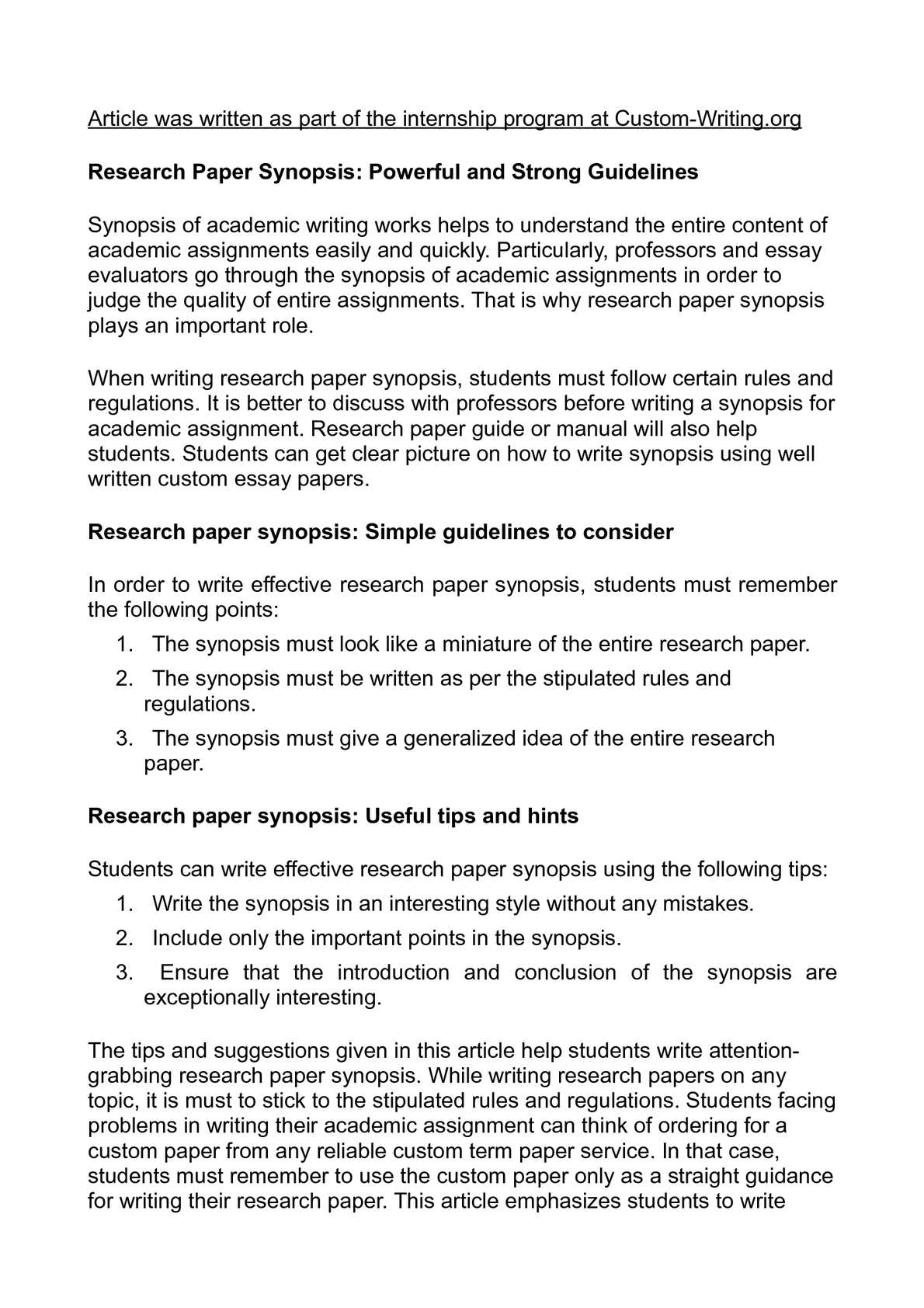 013 P1 Research Paper Tips Wonderful Writing For A Fast Apa Full