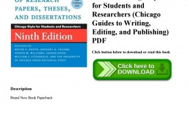 013 Page 1 Manual For Writers Of Researchs Theses And Dissertations 9th Edition Pdf Wonderful A Research Papers