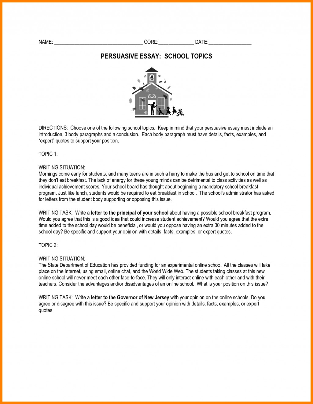 013 Persuasive Essays Topics For High School Essay Paper Research Introduction Sample Outline Topic Remarkable Students Schoolers Interesting Argumentative Large