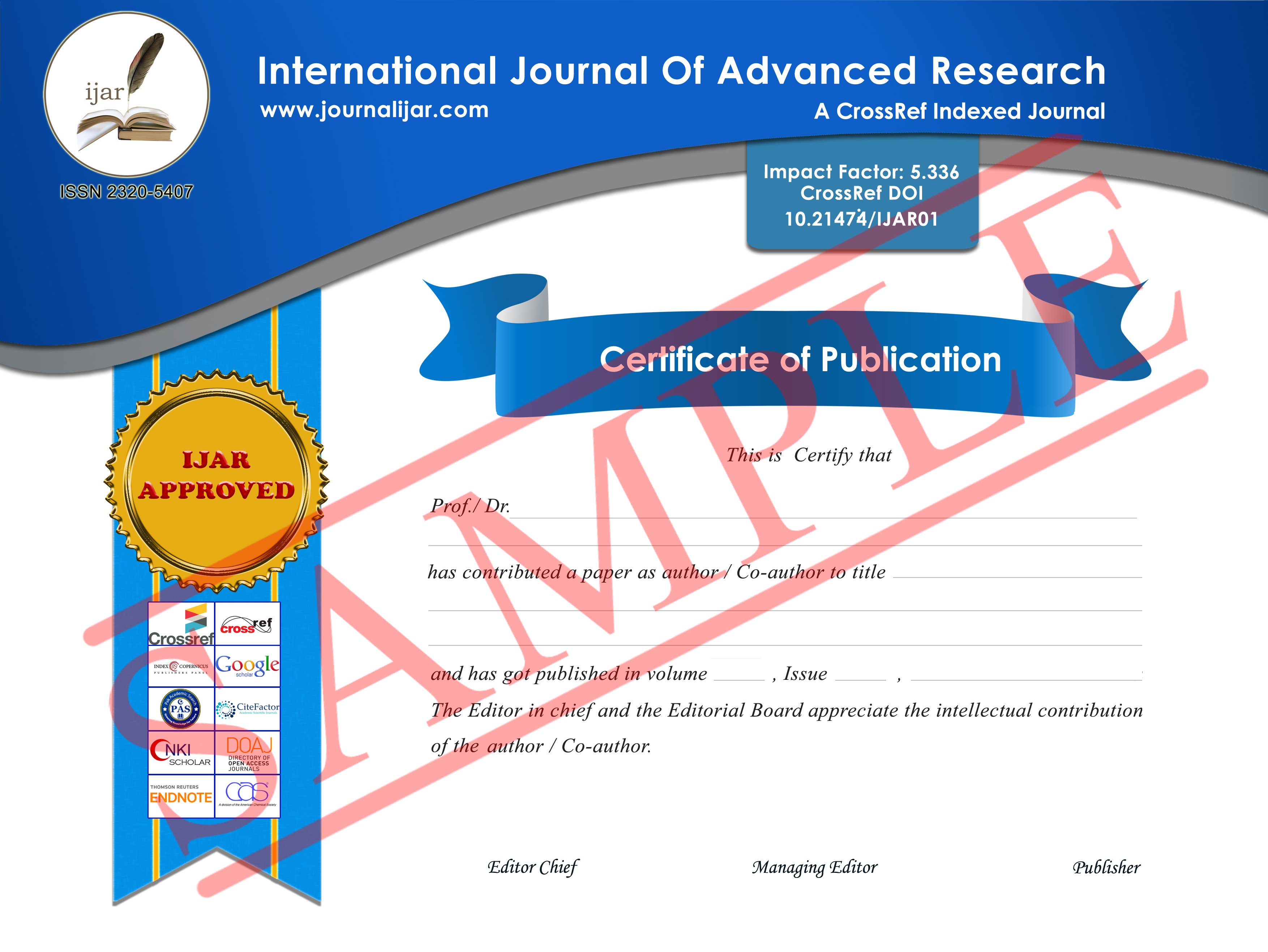 013 Research Paper Certificate Sample How To Publish In International Journal Free Unusual Pdf Full