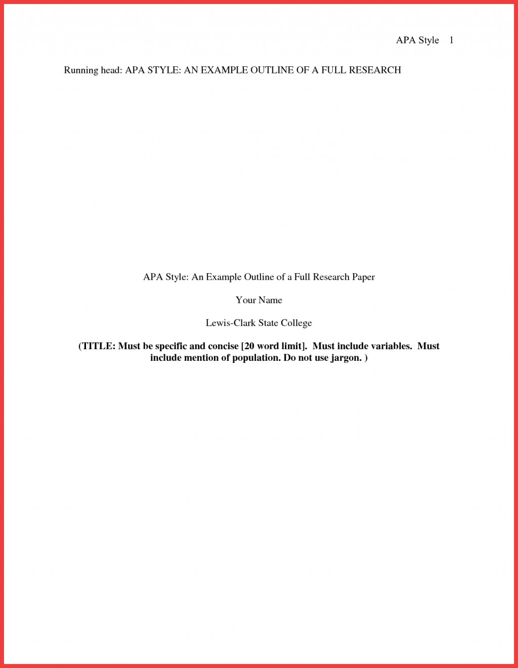 013 Research Paper Format Of Formidable Example Title Page Sample Pdf Ieee Large