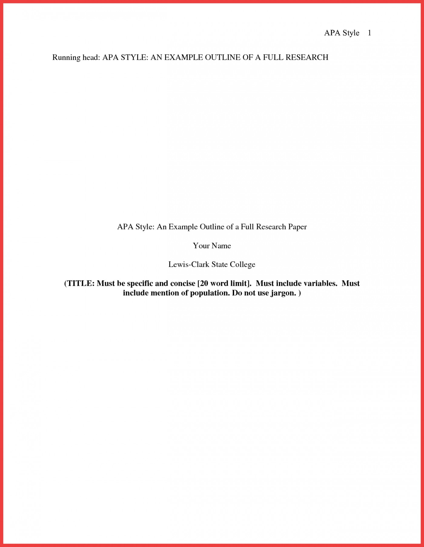 013 Research Paper Format Of Formidable Example Title Page Sample Pdf Ieee 1400