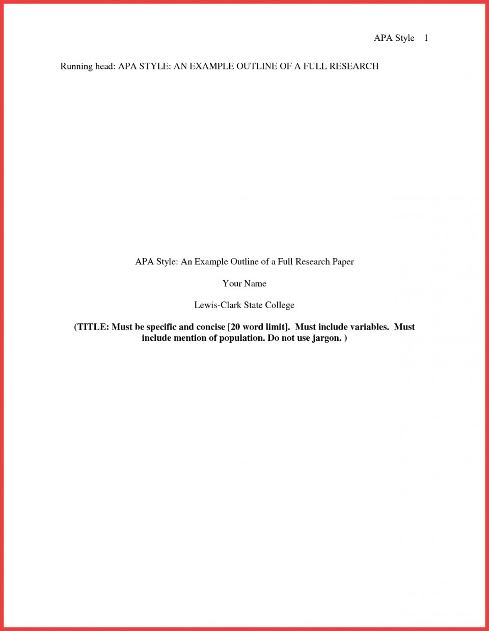 013 Research Paper Format Of Formidable Example Title Page Sample Pdf Ieee 960